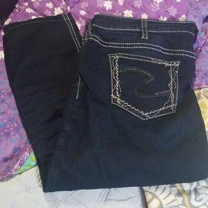 Silver Super skinny Jean's